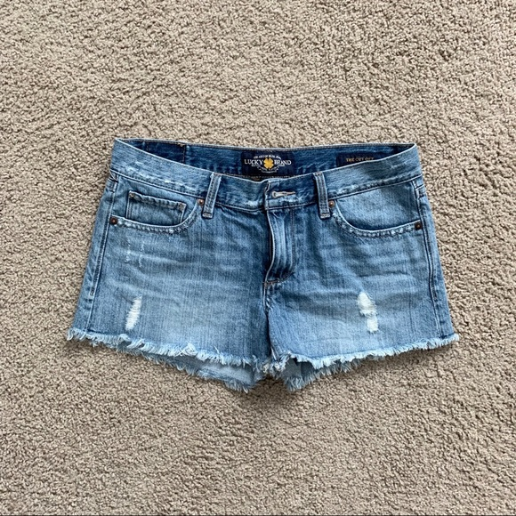 Lucky Brand Pants - Lucky Brand Distressed Denim Cut Off Shorts